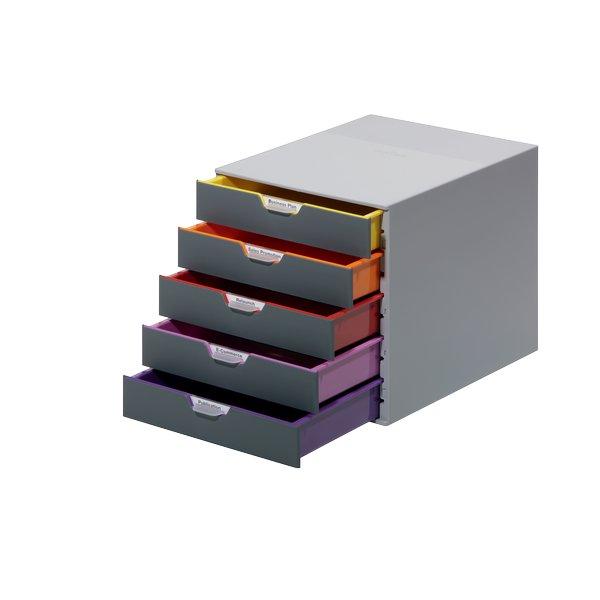 Cassettiere In Plastica Per Ufficio.Cassettiera In Plastica Durable Varicolor 237000