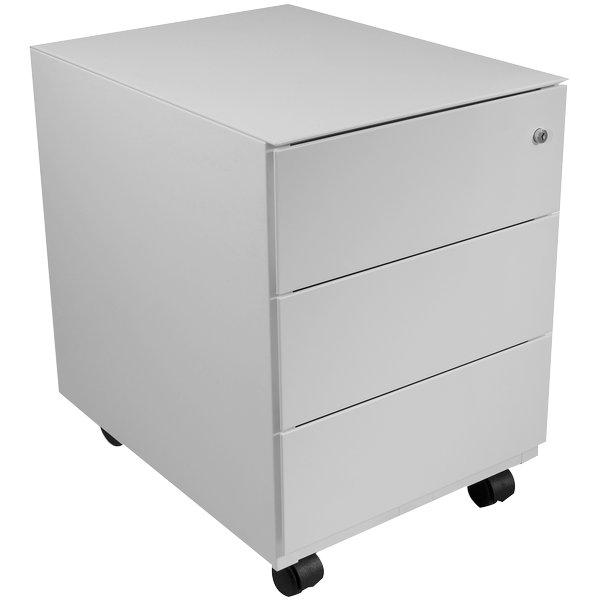 Tecnical 2 cassettiere in metallo su ruote c3 grigio - Cassettiera bianca ufficio ...