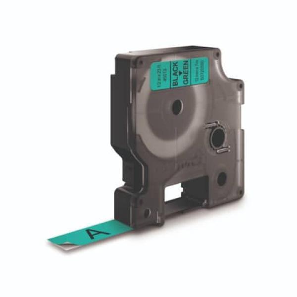 Nastro Dymo 12mm x 7m - 45019 (S0720590)nero-verde  - 260393