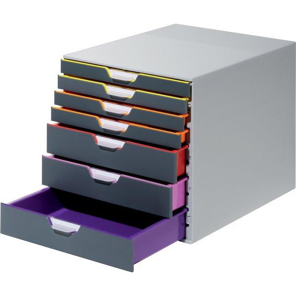 Good cassettiere da scrivania varicolor durable grigio e for Cassettiere design per ufficio