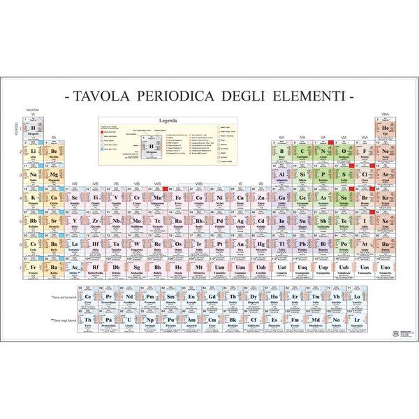 Belletti poster scientifico ms36pl formato 97x70 cm materiale carta plastificata carte - Tavola periodica zanichelli completa ...