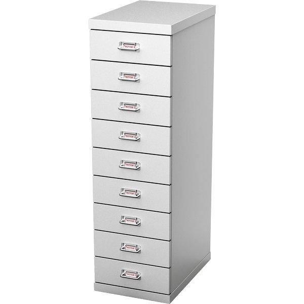 Cassettiere in lamiera Tecnical 2 - 9 - 29,1x43x97 cm - MAX9 GRIGIO