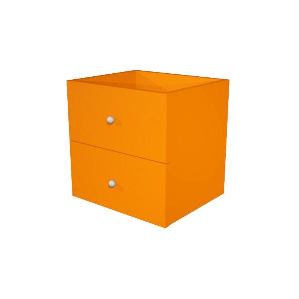 Coppia cassetti Libreria caselle Maxicube Artexport - 32,5x28,8x32,5 cm - arancione - 2c MaxC/O