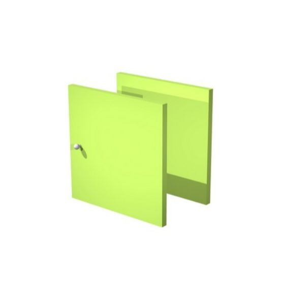 Set due antine Libreria caselle Maxicube Artexport - 32,2x32,1x1,6 cm - verde neon - 2a MaxC/V (conf.2)