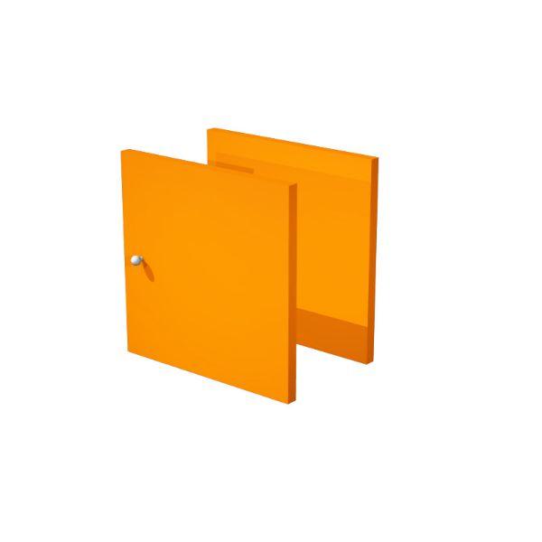 Set due antine Libreria caselle Maxicube Artexport - 32,2x32,1x1,6 cm - arancione - - 2a MaxC/O (conf.2)