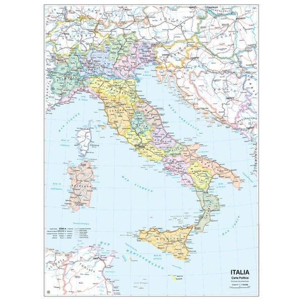 Cartina Geografica Centro Nord Italia.Carta Geografica Italia Belletti Ms01pl Conf 1 Pz Ufficiodiscount It