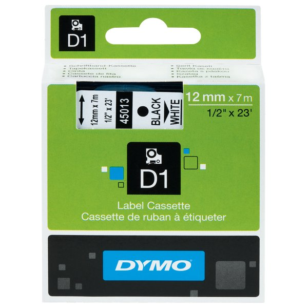 Nastro Dymo 9mm x 7m - 40910 (S0720670)nero-trasparente  - 433470