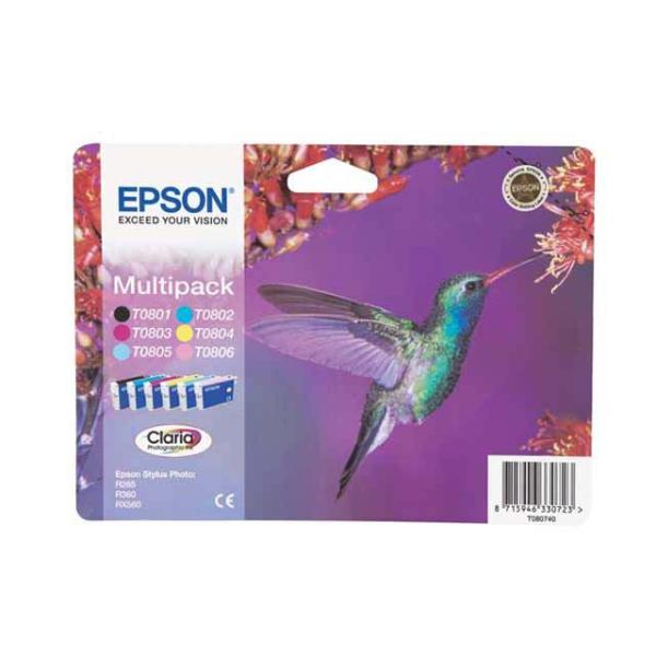 Cartuccia Epson T080/blister RS (C13T08074011) 6 colori - 755422