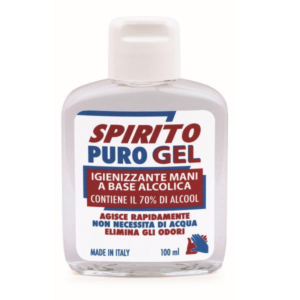 Igienizzante mani Gel Spirito Puro alcool 70% 100ml - D02424