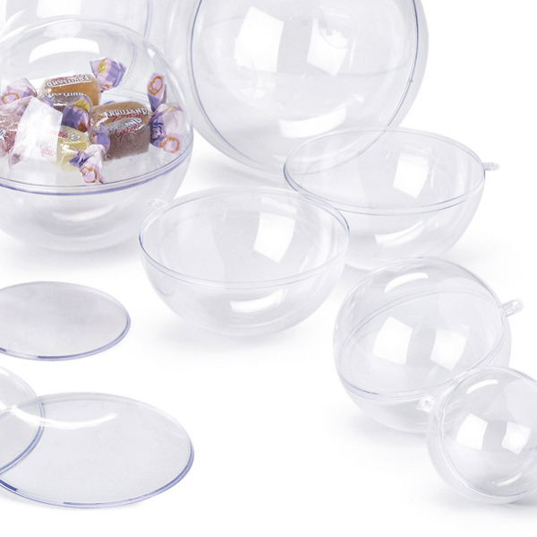 Sfera apribile in polistirene trasparente ø100mm ri.plast - Z10639