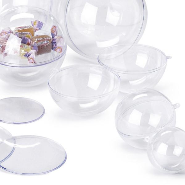 Sfera apribile in polistirene trasparente ø140mm ri.plast - Z10640