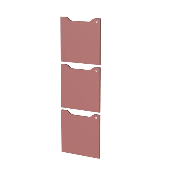 Set 3 ante c/serratura Viola per casellari Maxi Rainbow - Z15390 - viola