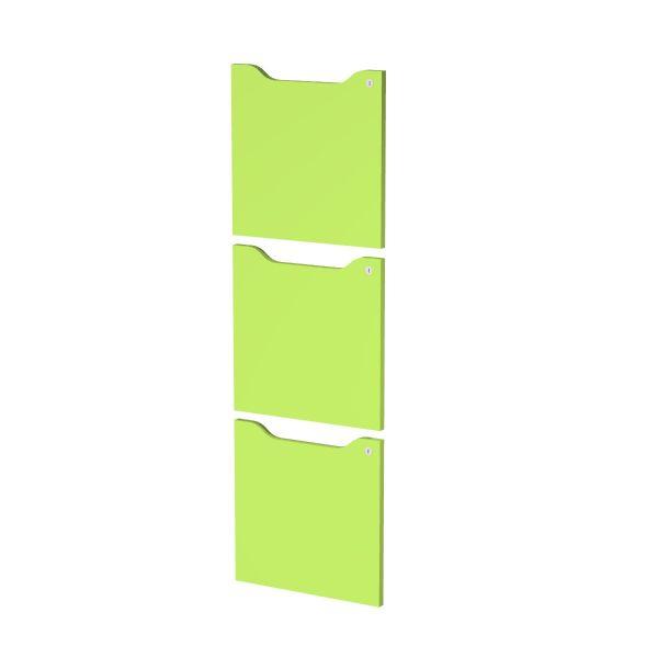 Set 3 ante c/serratura Verde per casellari Maxi Rainbow - Z15391 - verde