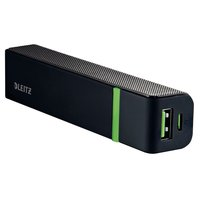 Caricatore HiSpeed Powerbank Leitz - 2600mAh - 1 x Micro USB (DC 5V, 2A) - Nero - 63110095