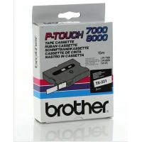 Nastro Brother TX221 nero-bianco - Z06152