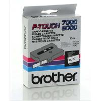 Nastro Brother TX231 nero-bianco - Z14074