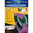 Pouches SuperQuick Fellowes - 80 my - 5440001 (conf.100)