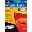 Pouches SuperQuick Fellowes - 125 my - 5440101 (conf.100)