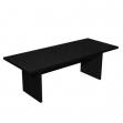 Tavolo riunioni Artexport Flora - nero venato - L220 P100 H74 cm - 905/8