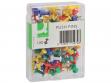 Spilli per bacheca Q-Connect colori assortiti Scatola da 100 pezzi - KF15274 - P00596