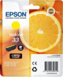 Cartuccia Epson T33/blister RS+AM+RF (C13T33444020) giallo - Y09651