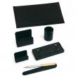 Servizio scrittoio art.121 nero in similpelle (6 componenti) - Z00359