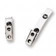 100 clip in metallo con cinturino in plastica per badge - Z00361