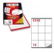 Etichetta adesiva c/515 bianca 100fg A4 70x72mm (12et/fg) markin - Z00721