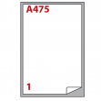 Etichetta adesiva a/475 bianca 100fg A4 199,6x289,1mm (1et/fg) markin - Z00819