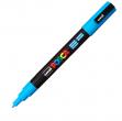 Marcatore uni posca pc3m azzurro p. fine - Z01195