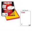 Etichetta adesiva c/503 giallo 100fg A4 210x297mm (1et/fg) markin - Z01206