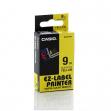 Nastro casio 9mm x 8mt nero su giallo - Z01259
