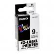 Nastro casio 9mm x 8mt nero su bianco - Z01260