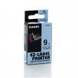 Nastro casio 9mm x 8mt nero su trasparente - Z01261