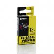 Nastro casio 12mm x 8mt nero su giallo - Z01262