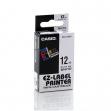 Nastro casio 12mm x 8mt nero su bianco - Z01263