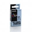 Nastro casio 12mm x 8mt nero su trasparente - Z01264