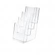 Portadepliant in polistirolo trasparente 11x25x14cm art.5022 - Z01408