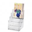 Portadepliant in polistirolo trasparente 16,5x24x14cm art.5023 - Z01409