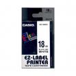 Nastro casio 18mm x 8mt nero su bianco - Z01437