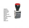 Timbro polinomio 12 diciture 4mm 04000w (blister) colop - Z01465