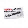 Scatola 3 cartucce capillari rosso per penne rapidograph - Z01512