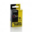 Nastro casio 18mm x 8mt nero su giallo - Z01547