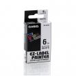 Nastro casio 6mm x 8mt nero su bianco - Z01552