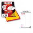 Etichetta adesiva c/519 giallo 100fg A4 105x148mm (4et/fg) markin - Z01626