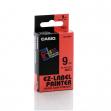 Nastro casio 9mm x 8mt nero su rosso - Z01630
