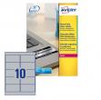 Poliestere adesivo l6012 argento 20fg A4 96x50,8mm (10et/fg) laser avery - Z02167