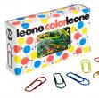 10 Scatole da 100 fermagli colorati e metallizzati n.2 26 mm leone color - Z02465 - conf.10