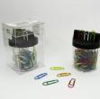 Dispenser magnetico 125 fermagli colori metal n.2 mm26 leone color - Z02467