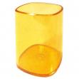 Portapenne bicchiere trasparente arancio arda - Z02991